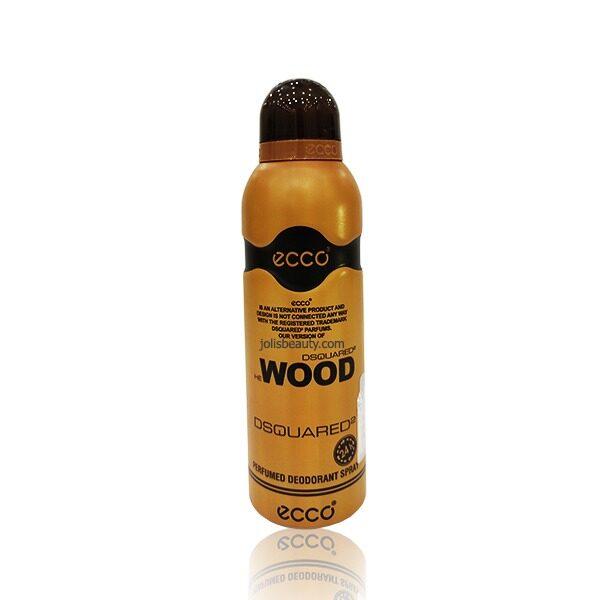 اسپری دئودورانت مردانه اکو ecco مدل Dsquared2 Wood حجم 200 میلی لیتر